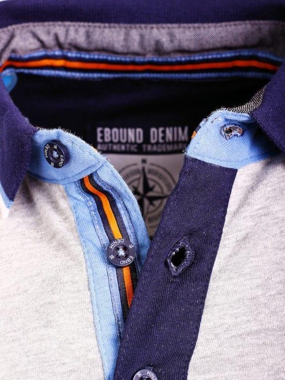 E-Bound polo shirt heren Air Force Del Rio Texas 100 procent katoen grijs 145296 (12)