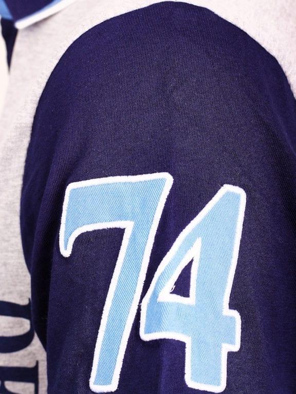 E-Bound polo shirt heren Air Force Del Rio Texas 100 procent katoen grijs 145296 (15)