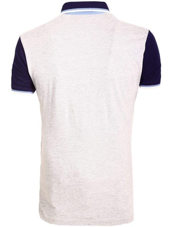 E-Bound polo shirt heren Air Force Del Rio Texas 100 procent katoen grijs 145296 (16)