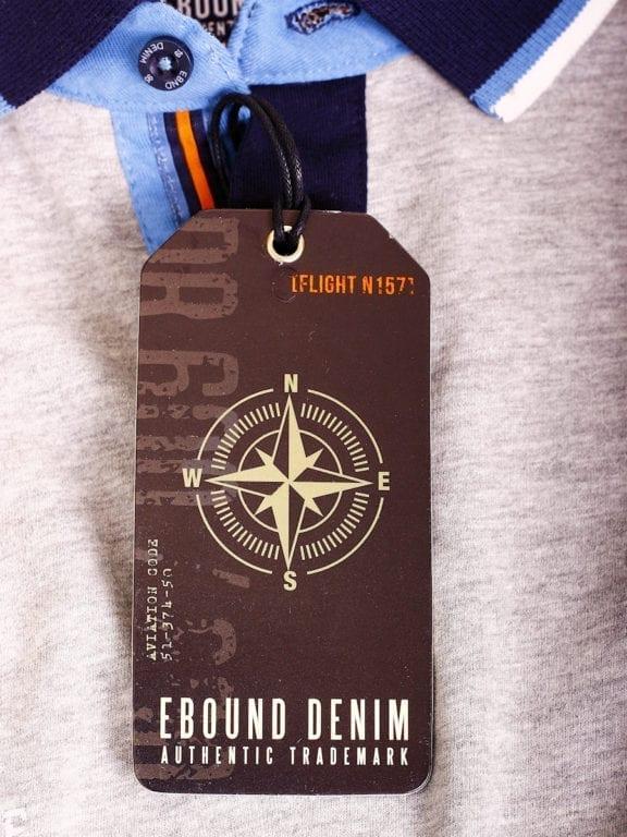 E-Bound polo shirt heren Air Force Del Rio Texas 100 procent katoen grijs 145296 (8)