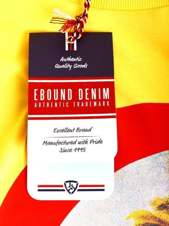 E-Bound shirt ronde hals California Malibu beach Geel 145284 (1)
