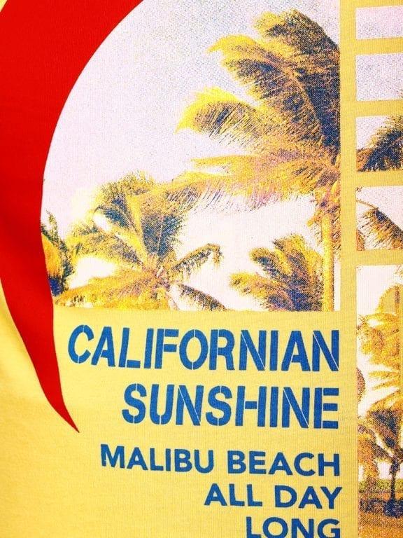 E-Bound shirt ronde hals California Malibu beach Geel 145284 (3)