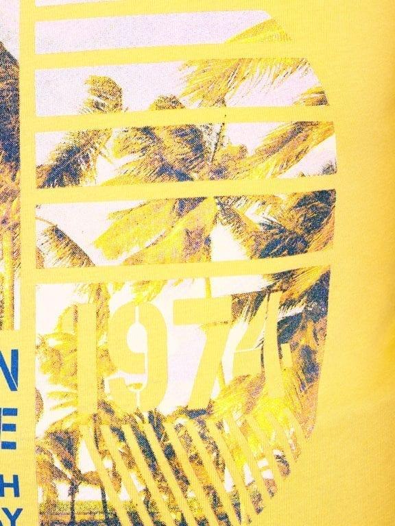 E-Bound shirt ronde hals California Malibu beach Geel 145284 (4)