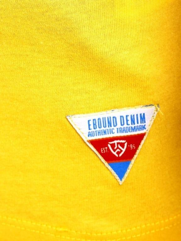 E-Bound shirt ronde hals California Malibu beach Geel 145284 (5)