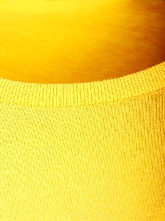 E-Bound shirt ronde hals California Malibu beach Geel 145284 (6)