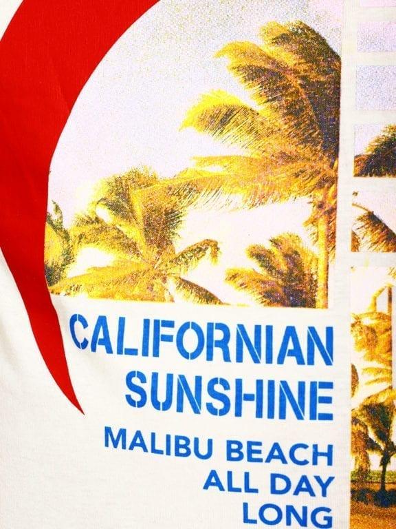 E-Bound shirt ronde hals California Malibu beach groen145284 (10)