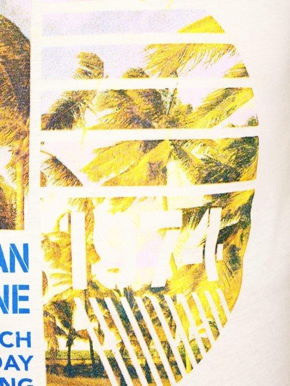 E-Bound shirt ronde hals California Malibu beach groen145284 (11)