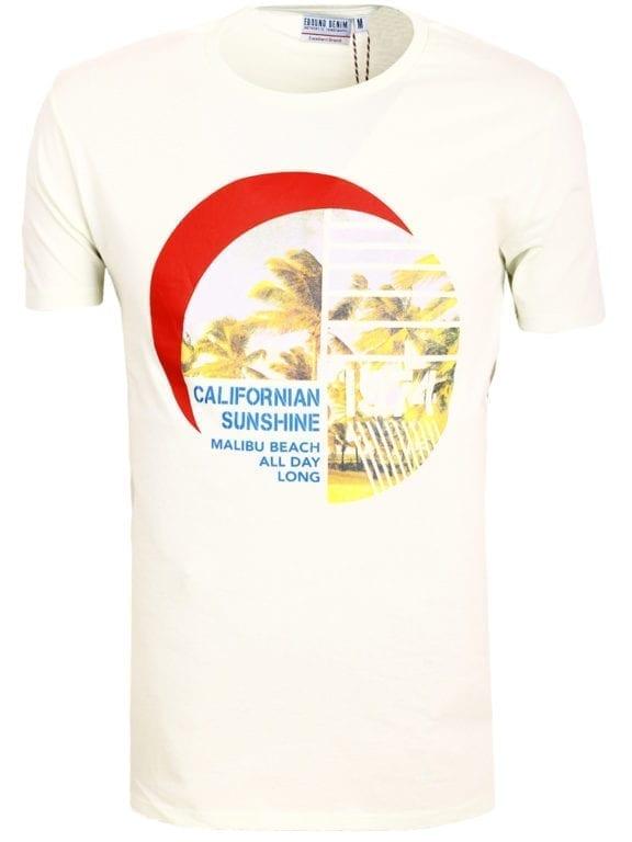 E-Bound shirt ronde hals California Malibu beach groen145284 (9)