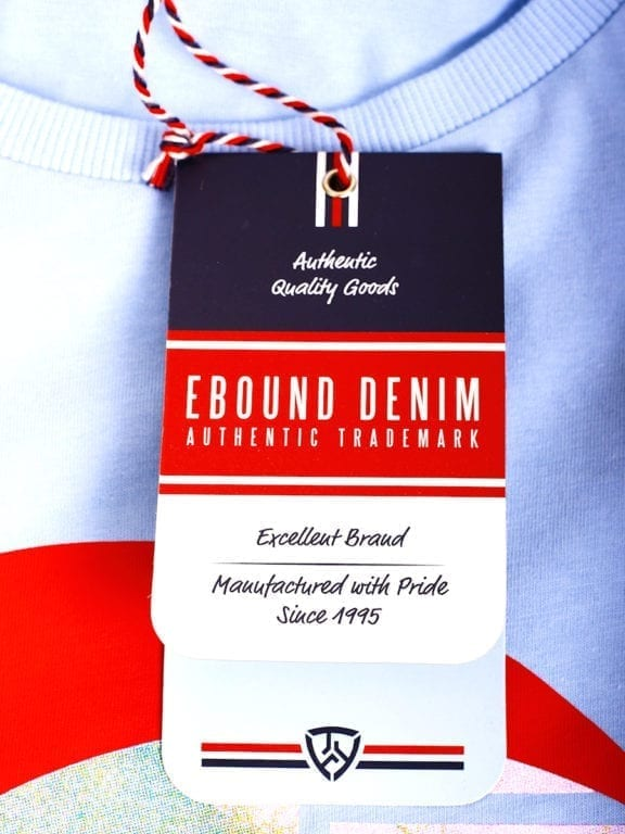 E-Bound shirt ronde hals California Malibu beach lichtblauw 145284 (12)