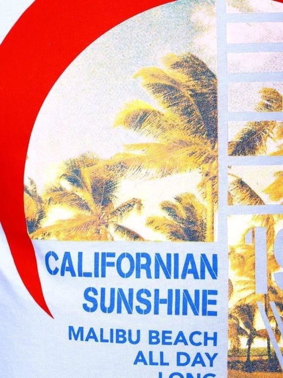 E-Bound shirt ronde hals California Malibu beach lichtblauw 145284 (15)