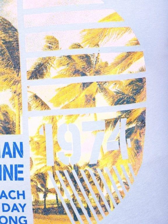 E-Bound shirt ronde hals California Malibu beach lichtblauw 145284 (16)
