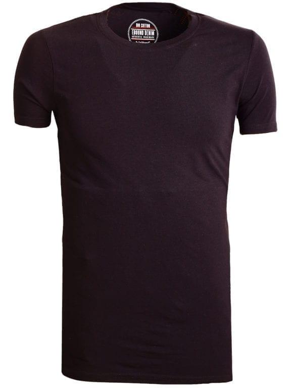 E-Bound t-shirt zwart bio katoen basic shirt met ronde hals 147316 (3)