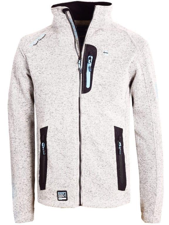 Fleece vest heren lichtgrijs Geographical Norway sweater met rits Trampoline (2)