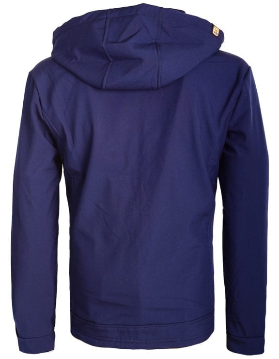 Geographical Norway softshell jas heren afneembare kraag blauw Rumba waterdicht (1)