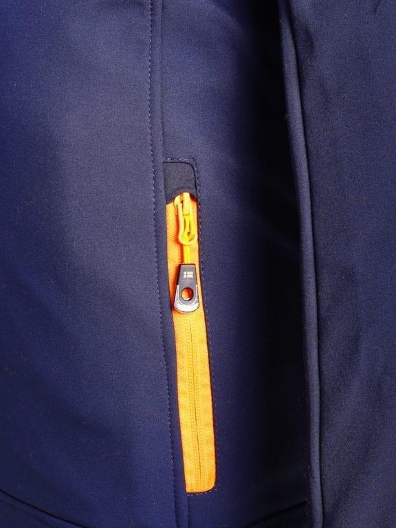 Geographical Norway softshell jas heren afneembare kraag blauw Rumba waterdicht (7)