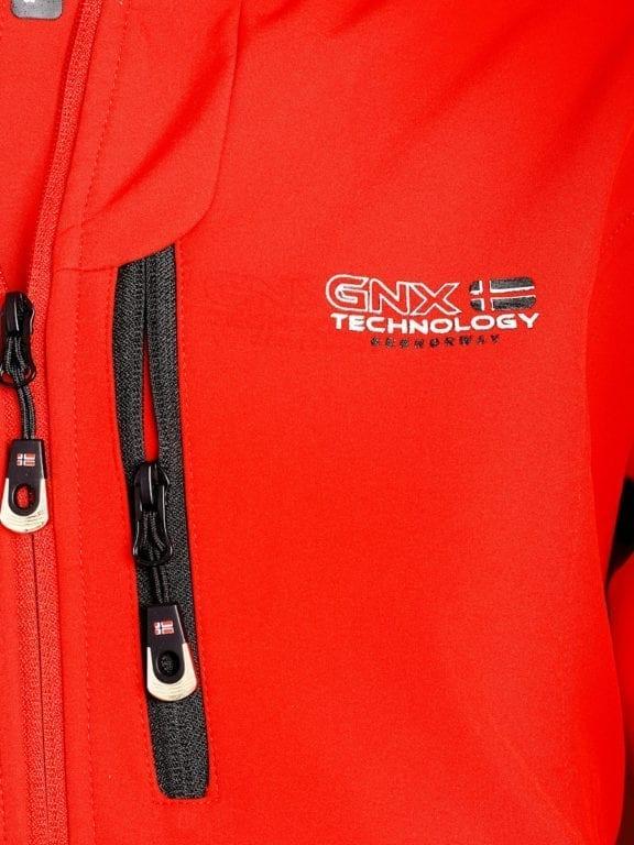 Geographical Norway softshell jas heren afneembare kraag rood Rumba waterdicht (4)