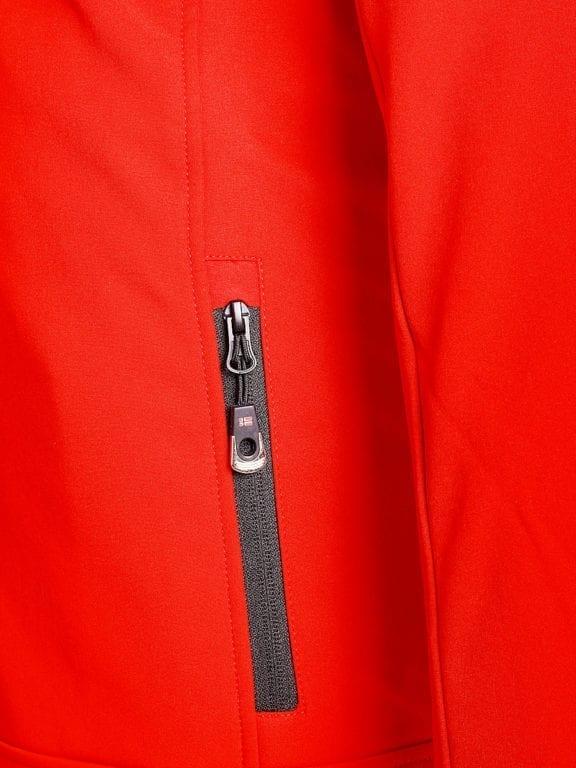 Geographical Norway softshell jas heren afneembare kraag rood Rumba waterdicht (6)