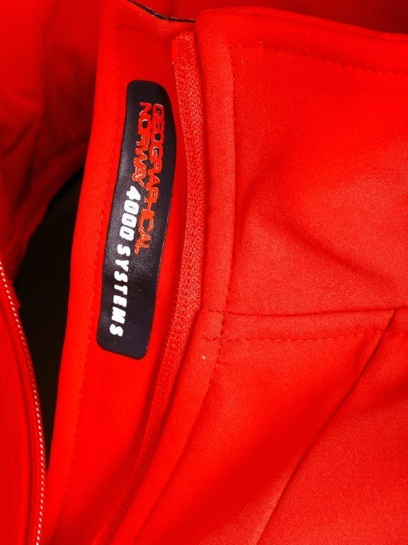 Geographical Norway softshell jas heren afneembare kraag rood Rumba waterdicht (7)