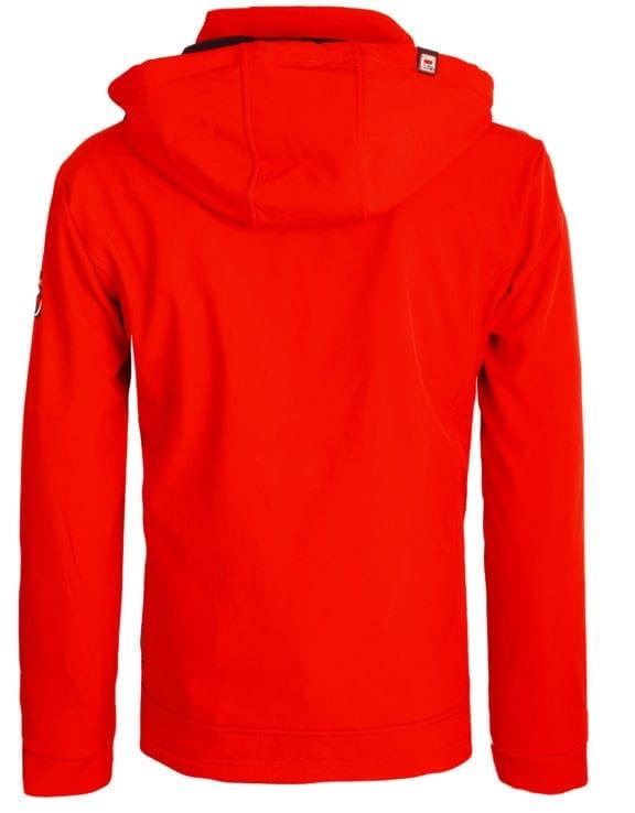 Geographical Norway softshell jas heren afneembare kraag rood Rumba waterdicht (9)