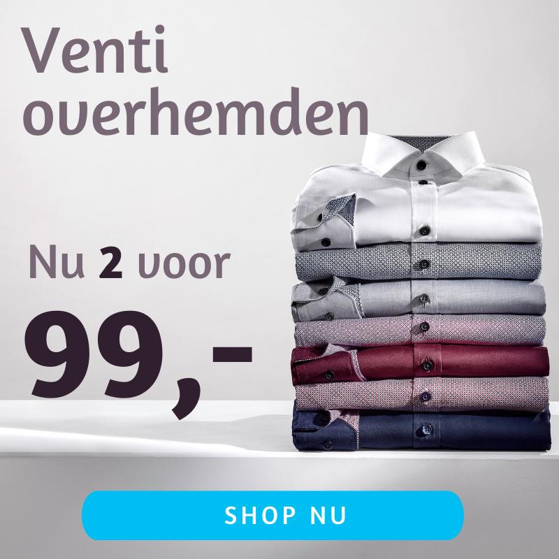 Venti en casa Moda overhemden 2 voor 99 actiepagina