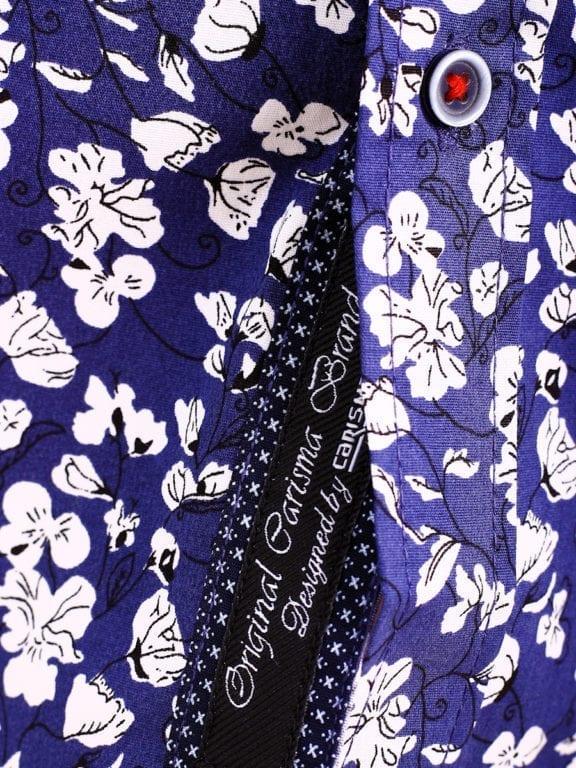 Carisma bloemenoverhemd lange mouw blauw shirt met bloemenprint 8417 (1)