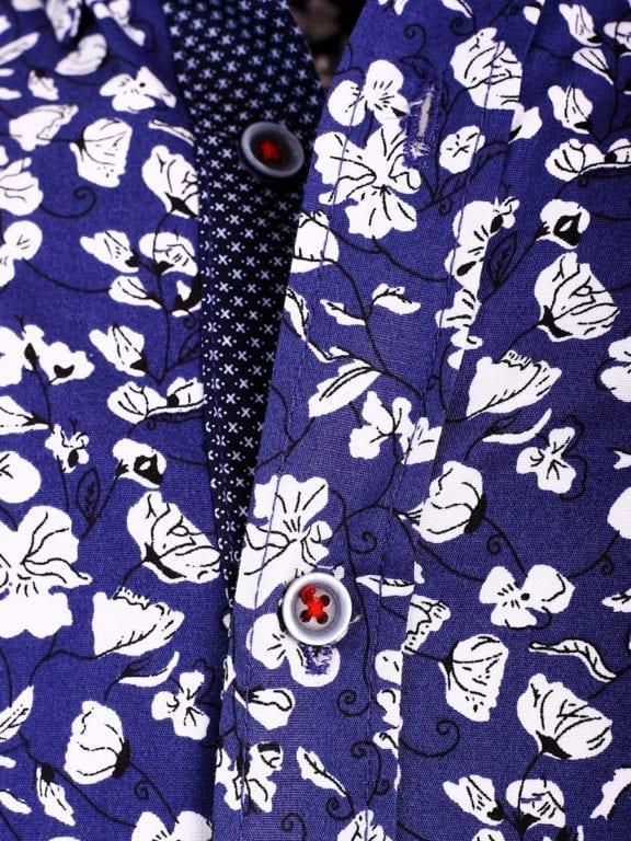 Carisma bloemenoverhemd lange mouw blauw shirt met bloemenprint 8417 (3)