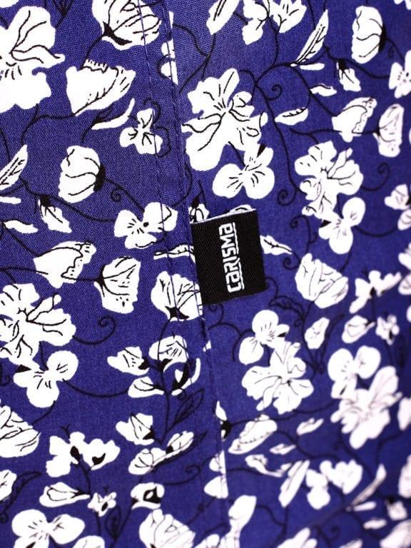 Carisma bloemenoverhemd lange mouw blauw shirt met bloemenprint 8417 (5)
