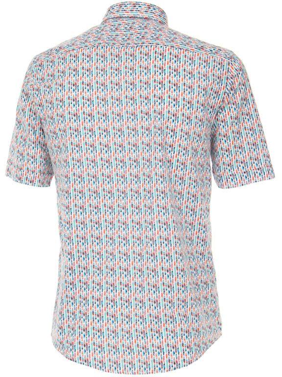 Casa Moda overhemd korte mouw met surfplanken blauw 903450500-350 (1)