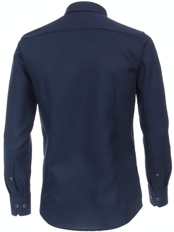 Venti overhemd donkerblayw kent kraag bloemprint in kraag113728400-101 (2)