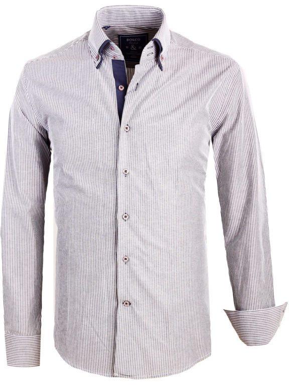 Do en Co overhemd grijs dubbele boord (1)
