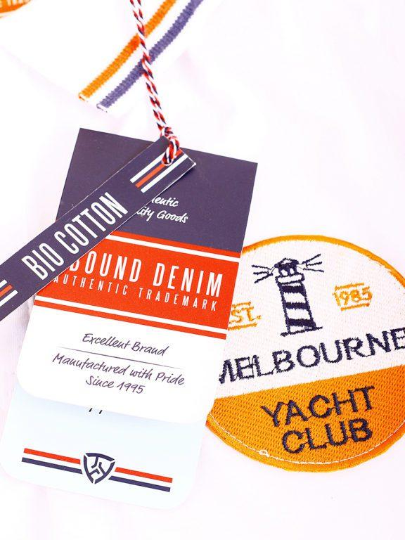 E-Bound polo shirt heren Melbourne Yacht Club bio katoen wit 147196.H.PO (2)