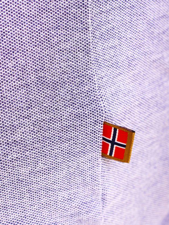 Geographical Norway Denim Polo Shirt Blauw Borstzakje Kblended (6)