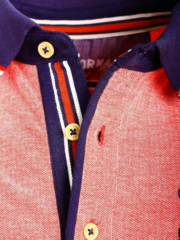 Geographical Norway Denim Polo Shirt Rood Borstzakje Kblended (3)