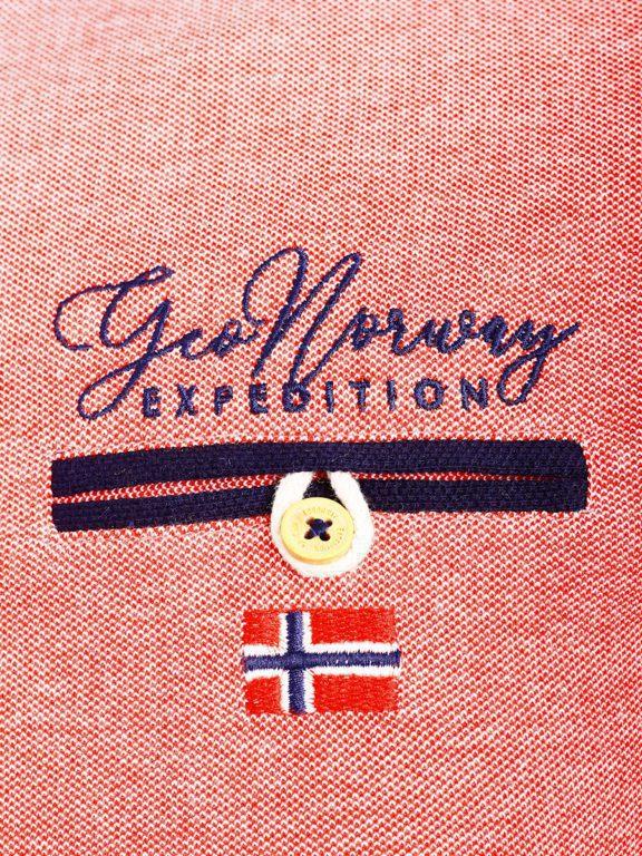 Geographical Norway Denim Polo Shirt Rood Borstzakje Kblended (4)