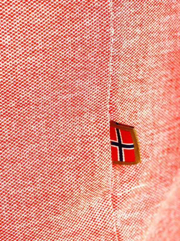 Geographical Norway Denim Polo Shirt Rood Borstzakje Kblended (5)