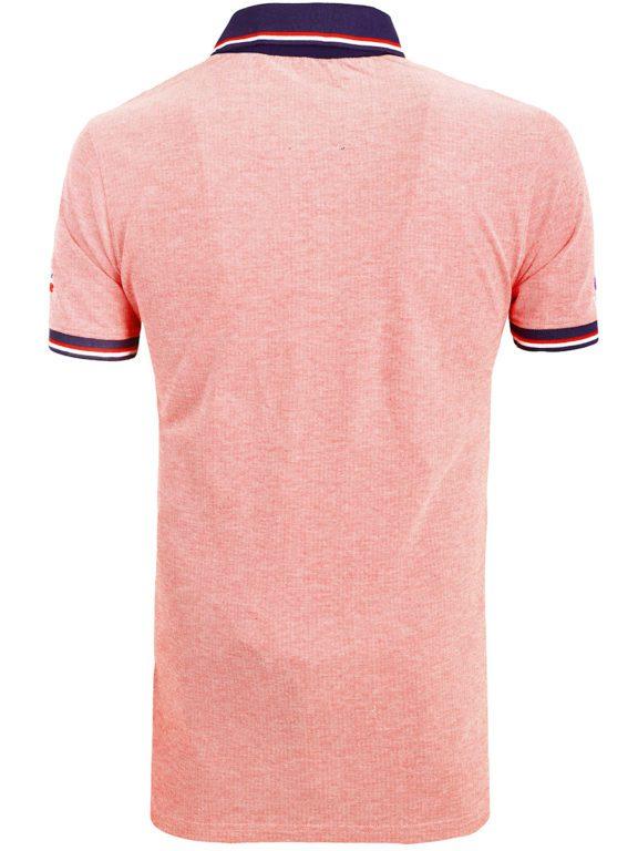 Geographical Norway Denim Polo Shirt Rood Borstzakje Kblended (6)