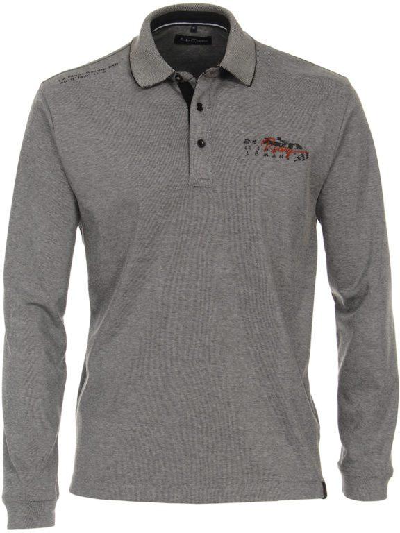 Casa Moda racing Poloshirt grijs lange mouw Le mans 413744900-774 (4)