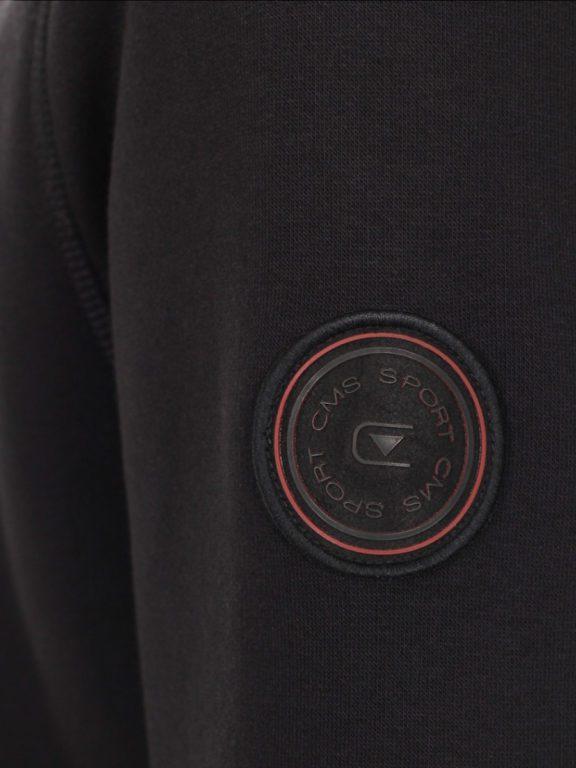 Casa Moda vest zwart met rits opstaande kraag CMS Sport 413707700-800 (5)