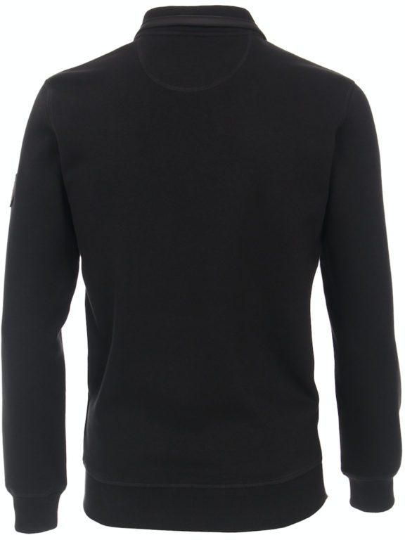 Casa Moda vest zwart met rits opstaande kraag CMS Sport 413707700-800 (7)