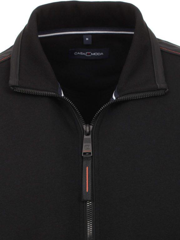 Casa Moda vest zwart met rits opstaande kraag CMS Sport 413707700-800 (9)