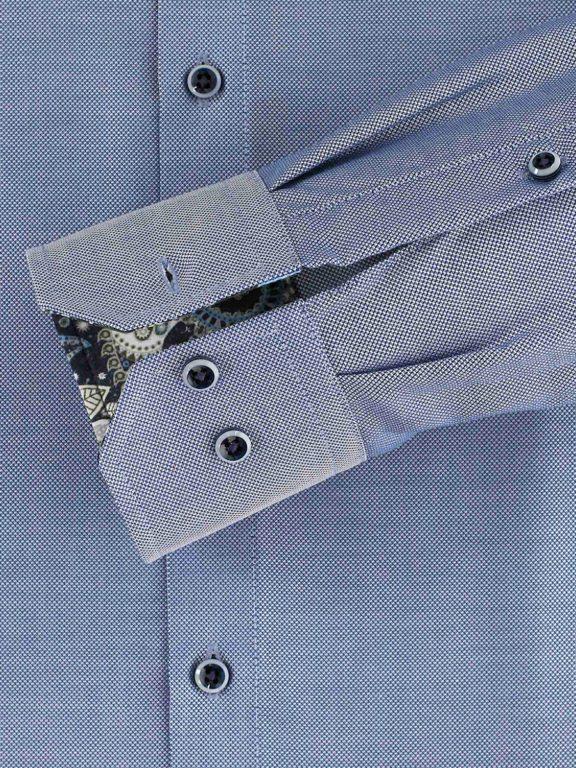 Venti luxe overhemd blauw button dowm boord en strijkvrij 113726700-107 (1)