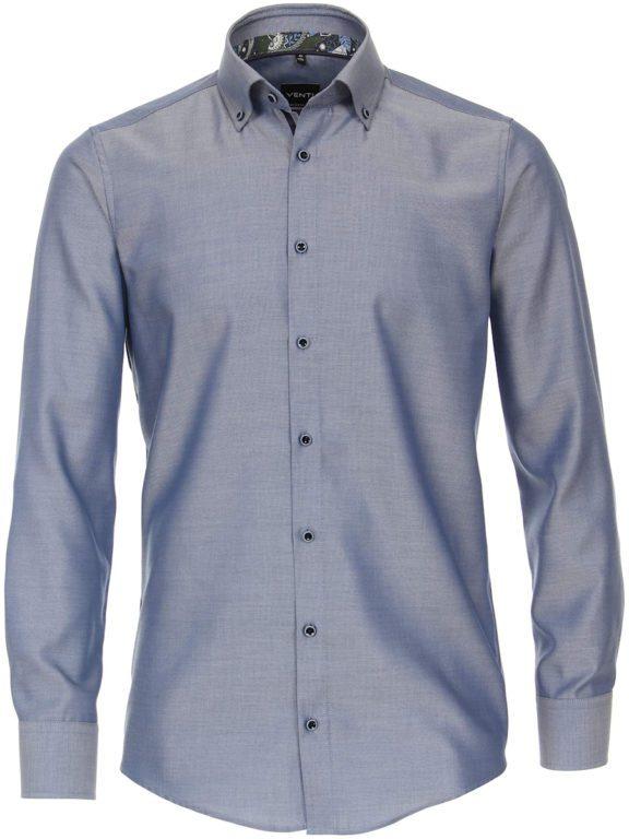 Venti luxe overhemd blauw button dowm boord en strijkvrij 113726700-107 (4)