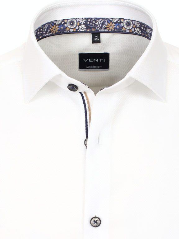 Venti luxe overhemd wit met bloemenmotief strijkvrij 113726100-001 (3)